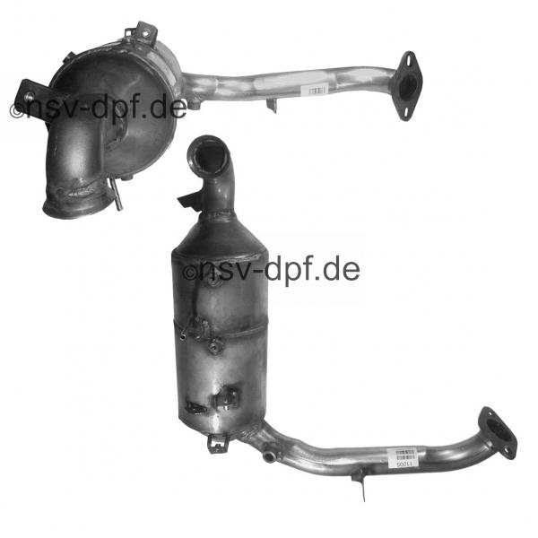 Volvo S40 D / S80 D / V50 D / V70 D 1.6l / 81 KW Dieselpartikelfilter